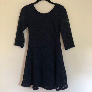 Nordstrom Lush Navy Blue Lace Mini Dress